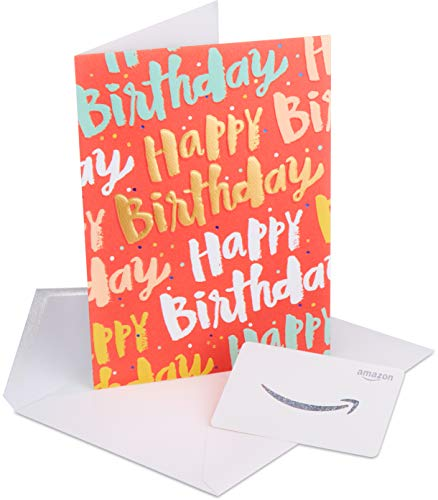 - Amazon.com Gift Card in a Premium Greeting Card by American Greetings (Happy Birthday Design)