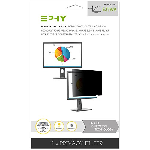 EPHY Privacy Filter / Anti-Glare / Screen Protector For Laptop Tft Monitor Desktop Pc Lcd Led Screen / 27 inch 16:9 by EPHY