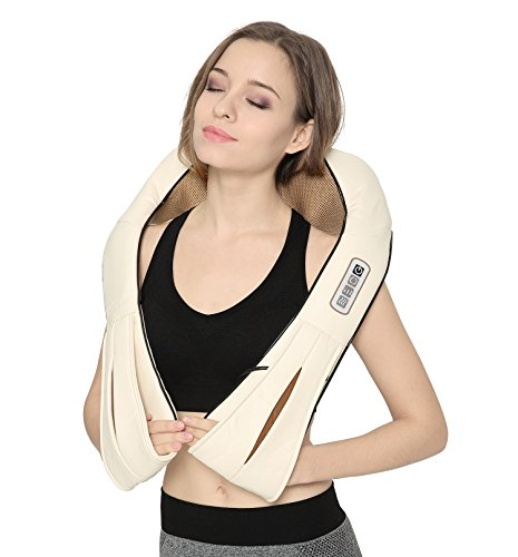 Shiatsu Neck and Back Massager with Soothing Heat Nekteck Electric Deep Tissue 3D Kneading Massage