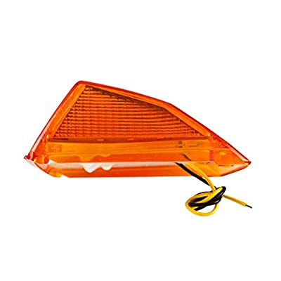 [ALL STAR TRUCK PARTS] 5x Super Bright Amber Yellow 17 LED Cab Marker Top Clearance Roof Lights Assembly Replacement For Semi Truck Trailer Kenworth Peterbilt Freightliner Mack Volvo International: Automotive