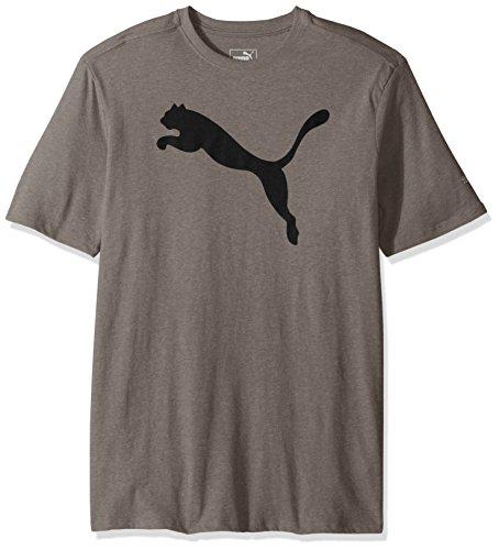 PUMA Men's Big Cat Graphic T-Shirt, Medium Gray Heather Black, Medium