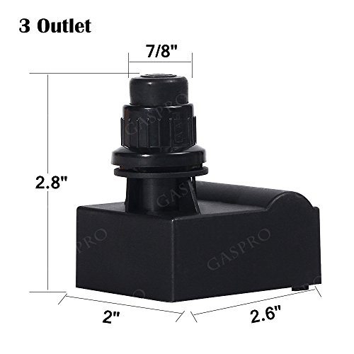 GASPRO 3 Outlet Gas Grill Ignitor, Electronic Spark Generator, Push Button BBQ Igniter Replacement for Backyard Grill,Charbroil,Nexgrill,Brinkmann,Kenmore,BBQ Grillware,Ducane,Uniflame,Aussie