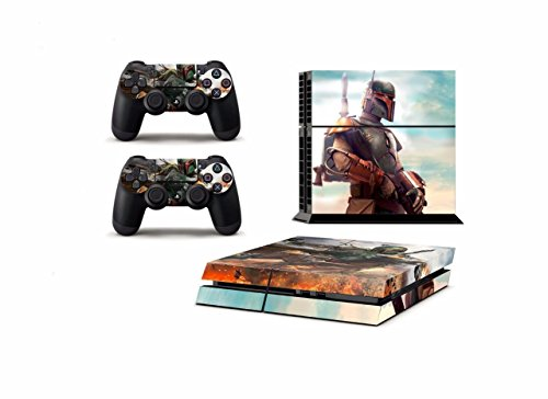Blazers Skins - Star Wars Fett the Bounty Hunter Boba Sticker Skin For Playstation 4 Console + Controller