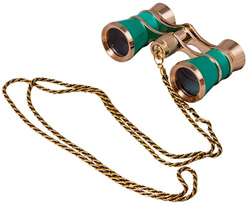 Levenhuk Broadway 325C Lime Opera Glasses with a Chain