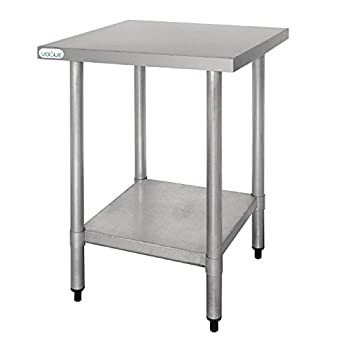 Vogue Stainless Steel Prep Table 600mm Kitchen Restaurant Catering  Commercial
