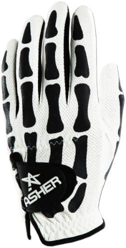 Asher Men s Deathgrip Left Hand Glove, White, Large
