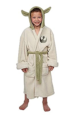 Star Wars Yoda Jedi Ears Fleece Bathrobe Kids Robe Cosplay Costume