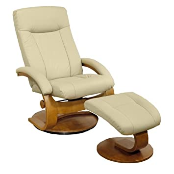 Charmant GSC International Manhattan Leather Recliner And Ottoman, Cameo