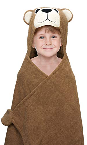 Hooded Towel for Kids, Oversize Cotton Character Hood Towel - Makes Getting Dry Fun - Ideal Beach Towels for Toddlers & Small Children - Use at The Pool or Bath Time, 27 x 47
