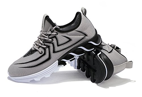No.66 Town Mens Womens Lightweight Casual Running Shoes Fashion Lovers Sneaker #2 Grey(spider) sERZla