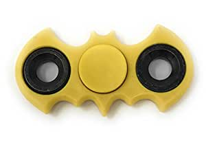 SpinBats! Bat Fidget Spinner-Toy Stress Reducer, Reliefs ADD, ADHD, Anxiety, and focus better, for Kids & Adults (Yellow)