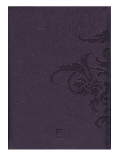 Pierre Belvedere Damask Large Notebook, Padded Cover, Purple (978340) Photo #2