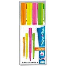 Paper Mate Highlighters Flou Accents, Vivid Colors, Chisel Tip, 4pk