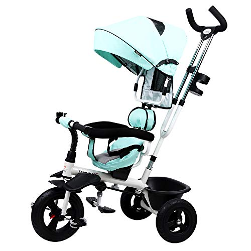 QXMEI 4 in 1 Tricycle 360° Swivelling