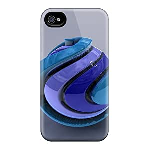 Awesome EWm13822DfxR CaterolineWramight Defender Tpu Hard Cases Covers For Iphone 6 Plus- Blue Sphere 3d