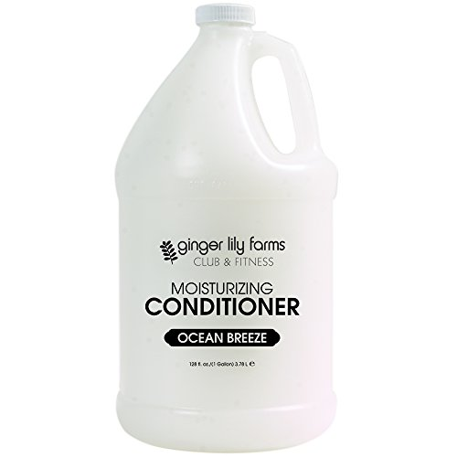 Ginger Lily Farms Club & Fitness Ocean Breeze Moisturizing Conditioner, 100% Vegan, Paraben, Sulfate, Phosphate, Gluten and Cruelty-Free, 1 Gallon
