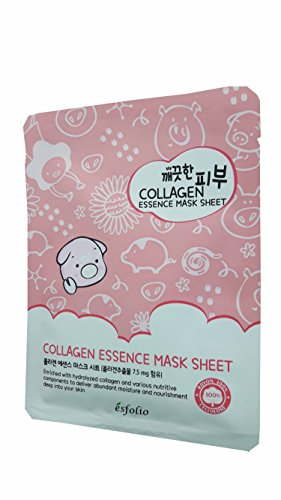 Price comparison product image 2 Mask Sheets of Esfolio Pure Skin Collagen Essence Mask Sheet. Enriched with hydrolyzed collagen and various nutritive components to deliver abundant moisture and nourishment. (25 ml/ sheet.)..
