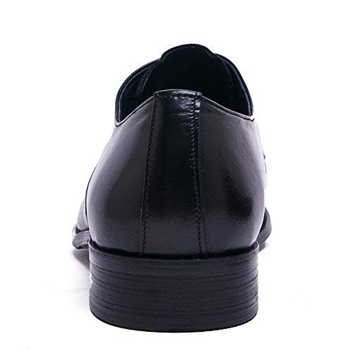 Stile Stile Stile commerciale alto alto alto Nozze Autunno Uomini 37 Inverno Stivali Tempo Parrucchiere Parte Nero spessore Vero Britannico BLACK 38 Attività libero Pelle Di Scarpe XIE inferiore Ix8RHZqZ