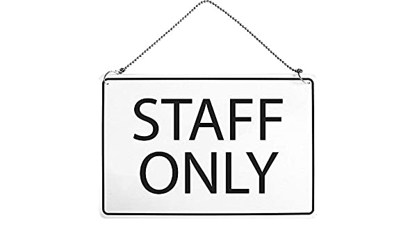 Advertencia Cartel - Staff Only - Talla aprox. 30 x 20 cm ...