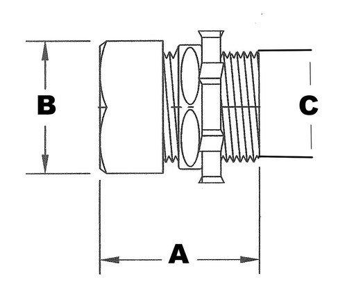 4 Trade Size 4 Trade Size Zinc Die Cast Morris Products 14919 EMT Compression Connector