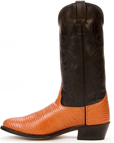 Botte De Cowboy Imprimé Lézard Old West Mens - Vcm9043 Cognac