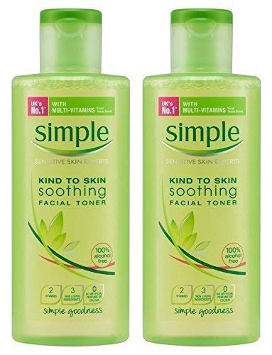 Simple Kind to Skin Soothing Facial Toner 200 ml (Pack of 2) by Simple by Simple