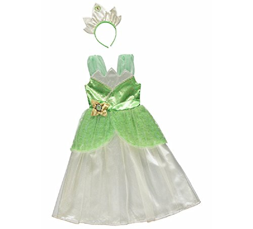[New George Disney Princess Tiana Kids Girls Fancy Dress Outfit Costume [3-4]] (Princess Tiana Disney Costume)