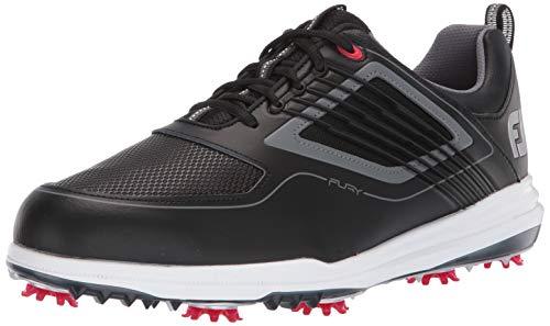 FootJoy Men's Fury Golf Shoes Black 9 W Red, US