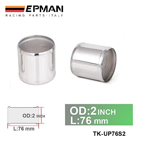 EPMAN 2' OD X 3' Long Aluminum Racing Intake/Turbo Intercooler Piping/Hose Joiner Pipe (Silver) RUIAN EP INTERNATIONAL TRADE CO. LTD