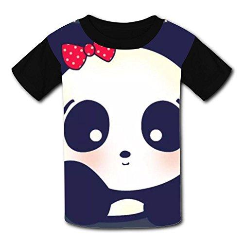 Funny I Love Panda Kids Tee T-Shirt Short Sleeve Costume XL