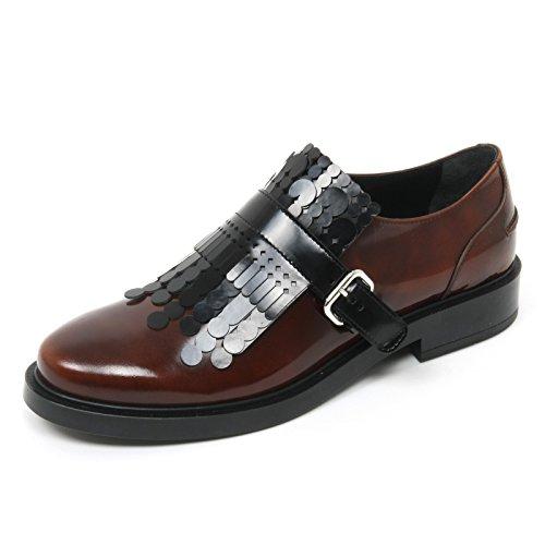 graphic Rosso nero scarpe Nero rosso donna frangia Scuro TOD'S shoe scarpa woman B9096 scuro waZTqSn