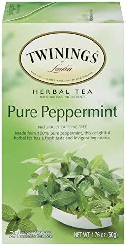 Twinings TWG09179 Tea Bags, Pure Peppermint, 1.76 oz, 25 Per Box
