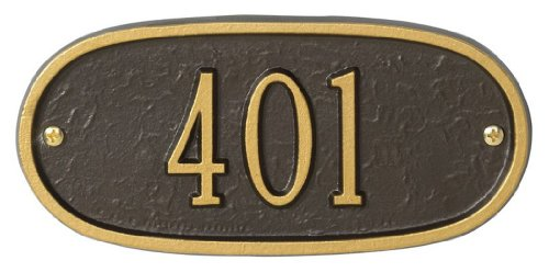 Whitehall 1340 Oval Entryway Home/Address Plaque