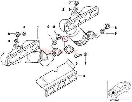 amazon com bmw exhaust gasket manifold to catalytic converter to E39 528I Smashing