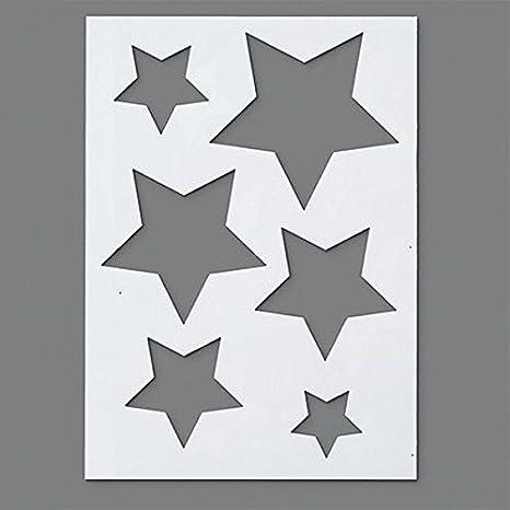 efco. Plantilla de plástico con 6 diseños de Estrellas, Transparente, tamaño A5: Amazon.es: Hogar