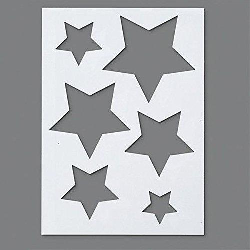 efco Stampi a stella, in plastica, trasparenti, in formato A5, confezione da 6 9320768
