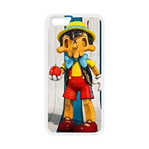 Generic for iPhone 6 4.7 Inch Cell Phone Case White Pinocchio Custom HFOKHJHLK2722