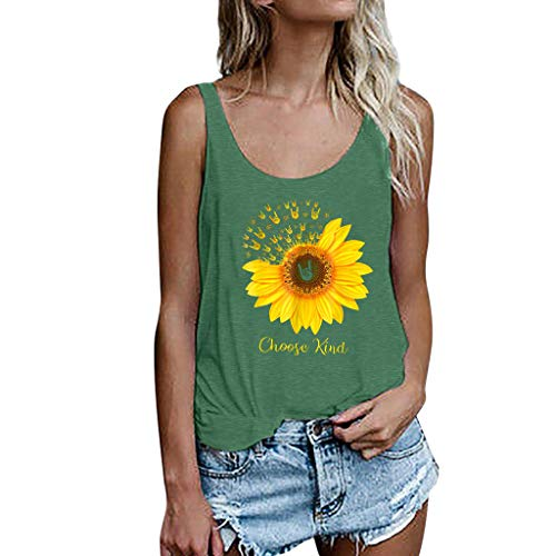 ♡ Londony ♡ Women's Sleeveless Summer Flowy Print Floral Spaghetti Strappy Tank Tops Casual Strap Camis Shirt -