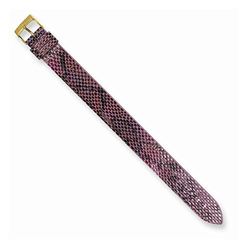 Moog Paris PY-14G Python Texture Calf Leather Polished Finish Watch Strap