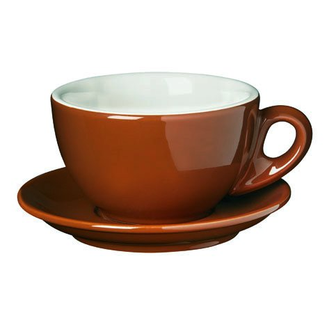Palermo Style Latte Cups Brown By Nuova -