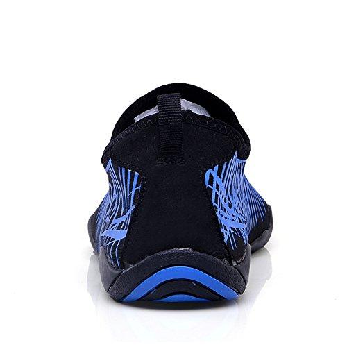 Schnell Drainage Unisex Strandschuhe Schwimmschuhe Trocknend mit Aquaschuhe Damen Blau2 Badeschuhe Löcher Wasserschuhe Kinder für Surfschuhe Herren xEOgSS