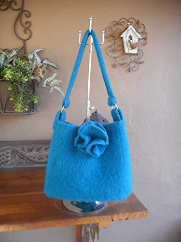 Hand Knit Felted Handbag