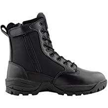 Maelstrom Men's TAC FORCE 8 Inch Military Tactical Work Boot with Zipper, Black, Size 15M