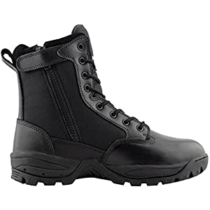 Maelstrom Men's Tac Force 8 Inch Military Tactical Duty Work Boot With Zipper, Black, 10.5 W US