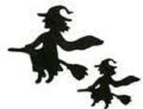 QUICKUTZ Lifestyle Crafts 4-Inch by 4-Inch Witches Die