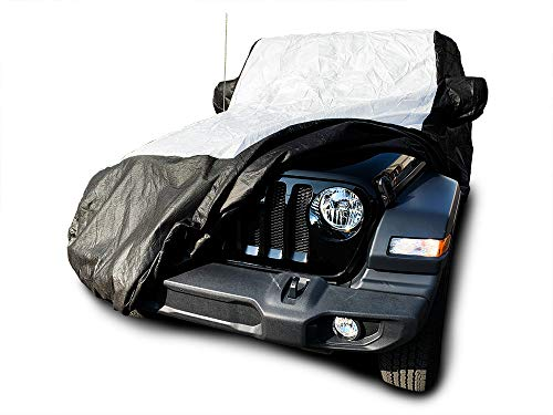 Tuxcover Custom Fit 2004-2019 Jeep Wrangler Unlimited JK JL 4 Door Sport Sahara Rubicon Moab Car Cover All Weatherproof Multi Tyvek Covers