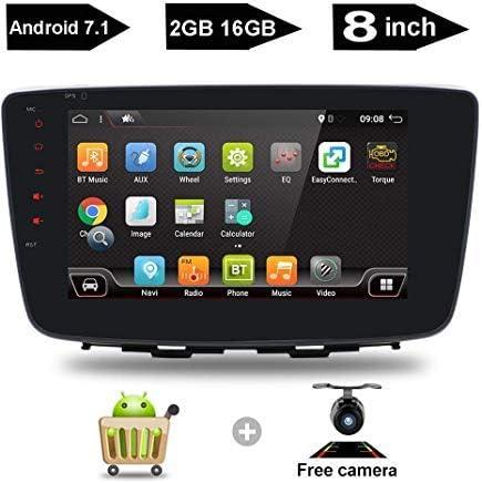 Android 7.1 Doble DIN en el salpicadero 8 Pulgadas HD Pantalla táctil Coche estéreo GPS navegación Am/FM Radio Apoyo SD/USB/BT/1080P/control de Volante/Agenda de teléfono para Suzuki Baleno 2017: Amazon.es: Electrónica
