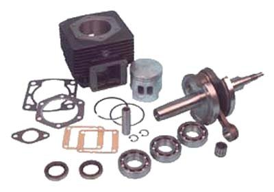 EZGO rebuilt kit. Includes cylinder & piston assembly, crankshaft, bearings, seals and gaskets. For E-Z-GO gas (2 cycle) 1989-93. LOWER 48 US STATES ONLY! - Rebuilt Crankshaft