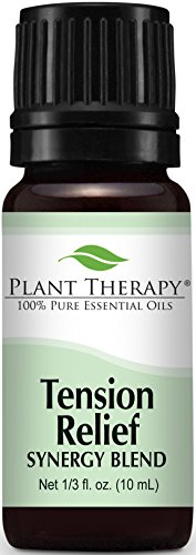 Plant Therapy Tension Relief (Headache Relief) Synergy Essential Oil Blend. 100% Pure, Undiluted, Therapeutic Grade. 10 ml (1/3 oz).