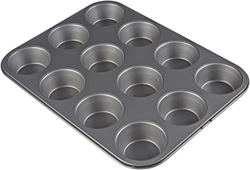 AmazonBasics Nonstick Carbon Steel Muffin Pan - 2-Pack by AmazonBasics (Image #2)